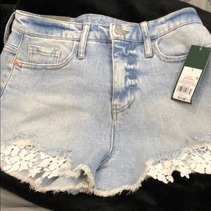 Wild Fable high rise light colored jean shorts 4